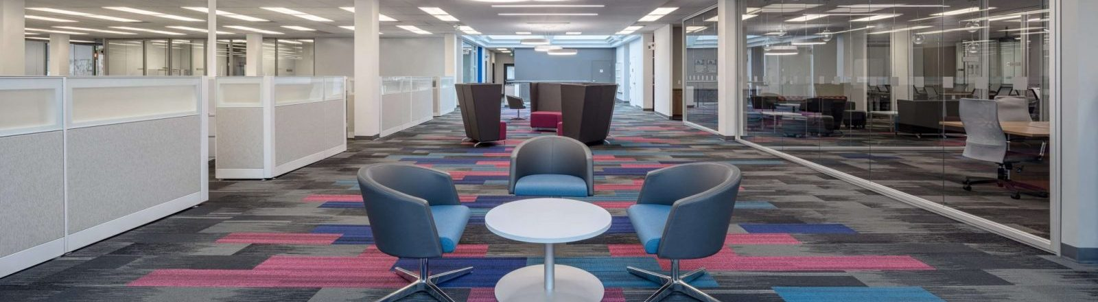 patterned office flooring in birmingham