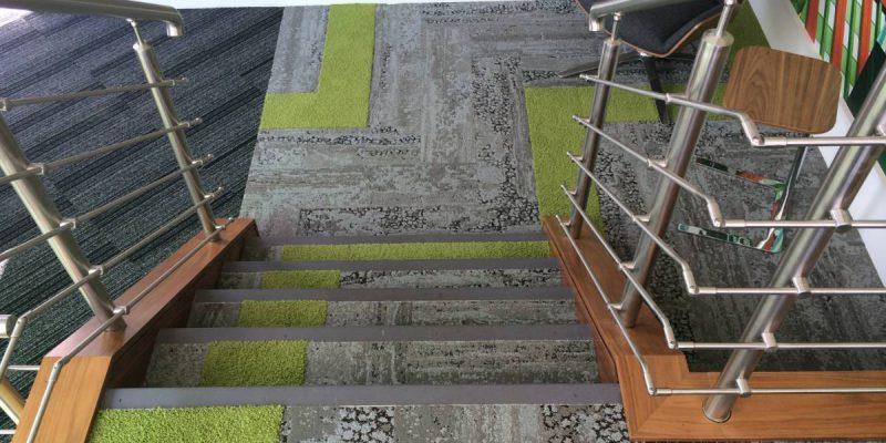 stairway with office flooring in birmingham