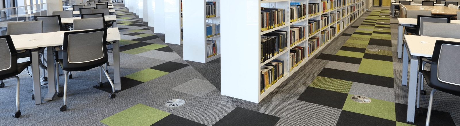 School Library with School Flooring in Birmingham