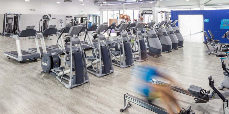 Gym cardio machines for sports flooring in Birmingham
