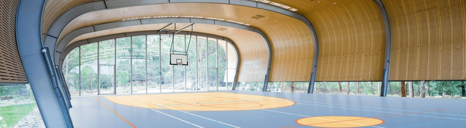 Multi purpose sports hall with sports flooring