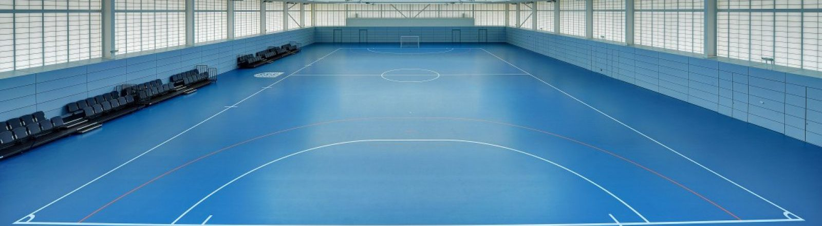 gym hall with sports flooring