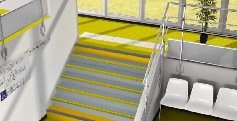 Yellow school flooring in birmingham