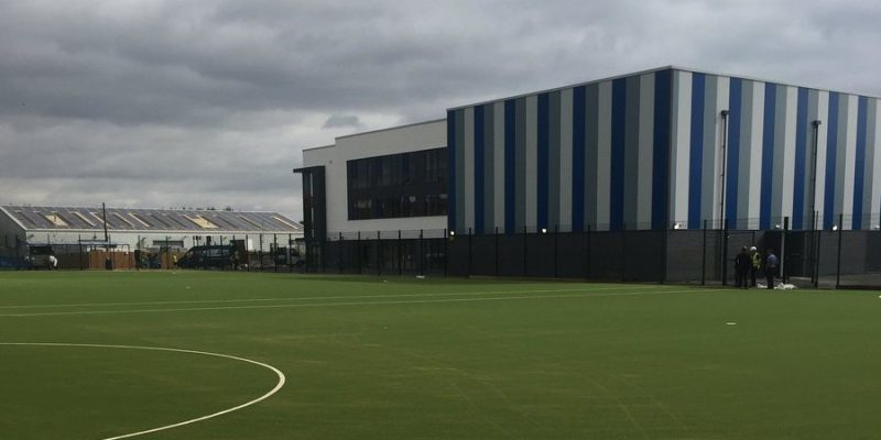 football pitch with sports flooring in birmingham