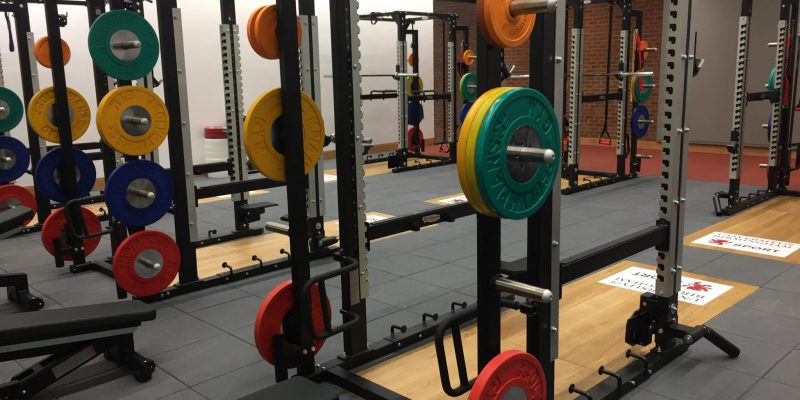 Free weights in gym in Birmingham