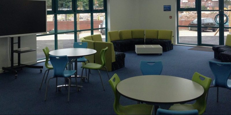 classroom and chairs with school flooring in birmingham