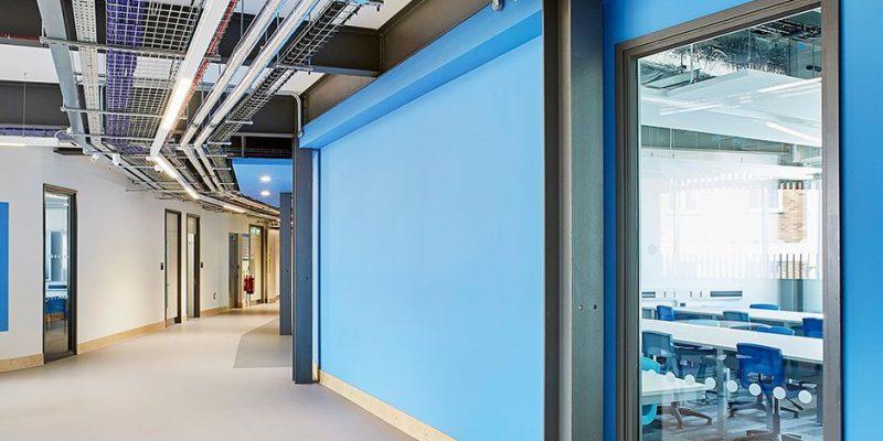hallway with school flooring in birmingham