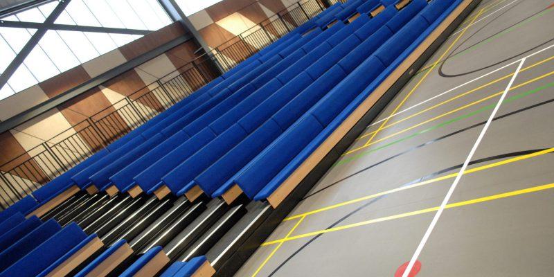 Gym seating with school flooring in birmingham