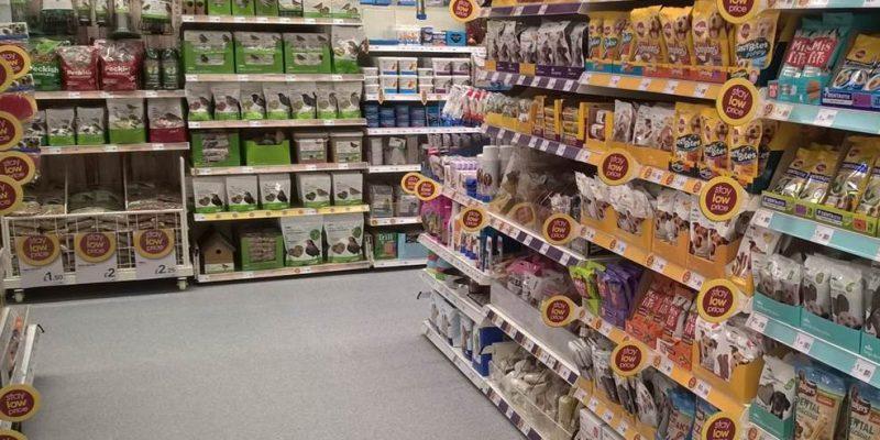 Wilko shop floor in grey in birmingham