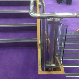 Solihull Library Stairway with Purple carpet