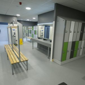 Vinyl Safety changing room flooring in birmingham