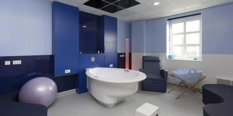 Worcester Royal Hospital - Blue Patient bathroom